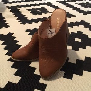 Express brown clog size 7 new with tags